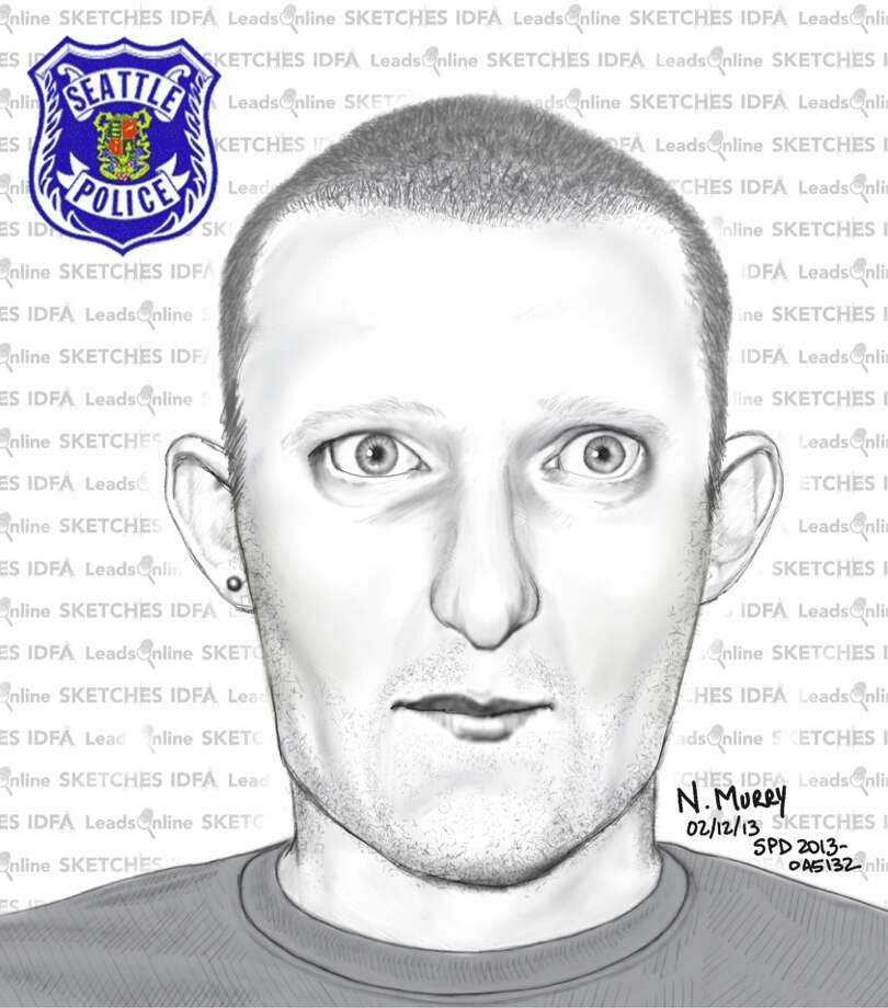 Seattle Police released this sketch Tuesday of the man suspected of sexually assaulted a woman walking home from Northgate Mall the night of Feb. 8. Police say they have not linked all four recent sexual assault cases in North Seattle. Anyone with information is asked to call 911. Photo: Seattle Police Department