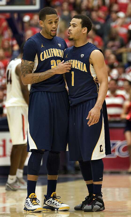 Cal's Allen Crabbe (left) scored 31 points and Justin Cobbs had 21 in the upset of then-No. 7 Arizona on Sunday. Crabbe is averaging 19.8 points per game. Photo: Wily Low, Associated Press