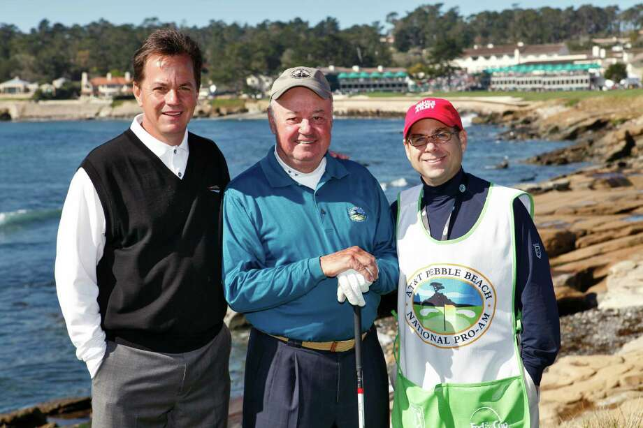 "Bret Nutt, left, and his father, Ollie, had what they described as an ""incredible"" experience playing in the Pebble Beach National Pro-Am. Photo: Handout"