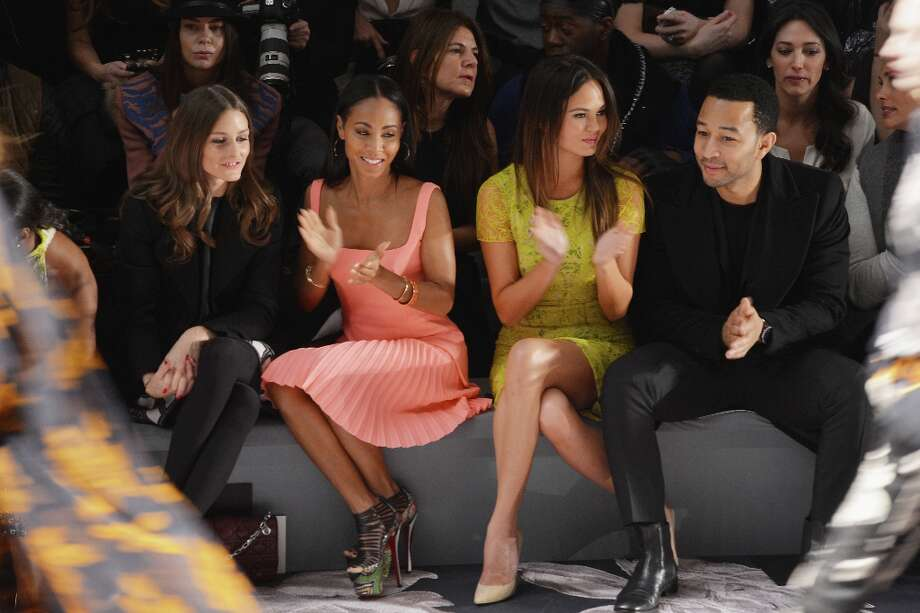 NEW YORK, NY - FEBRUARY 12:  (L-R) TV personality Olivia Palermo, Jada Pinkett Smith, model Chrissy Teigen, and singer John Legend attend the Vera Wang Fall 2013 fashion show during Mercedes-Benz Fashion Week at The Stage at Lincoln Center on February 12, 2013 in New York City. Photo: Stephen Lovekin / 2013 Getty Images