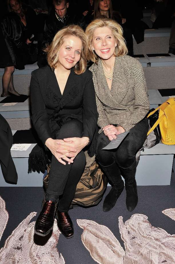 NEW YORK, NY - FEBRUARY 12:  Singer Renee Fleming and actress Christine Baranski attend the Vera Wang Fall 2013 fashion show during Mercedes-Benz Fashion Week at The Stage at Lincoln Center on February 12, 2013 in New York City. Photo: Stephen Lovekin / 2013 Getty Images