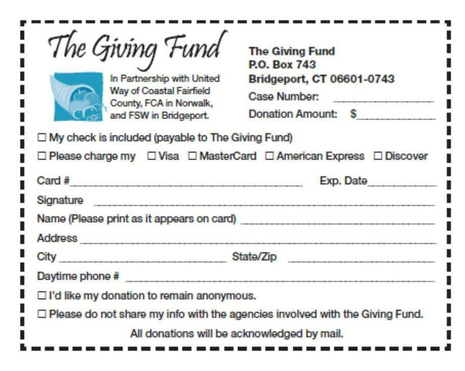 Giving Fund coupon Photo: Contributed Photo