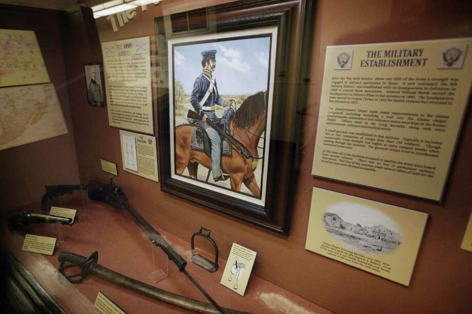 """This display titled """"The Post at San Antonio"""" is one of the items from the Fort Sam Houston Museum that will be moving to the Quadrangle. Photo: Express-News File Photo"""