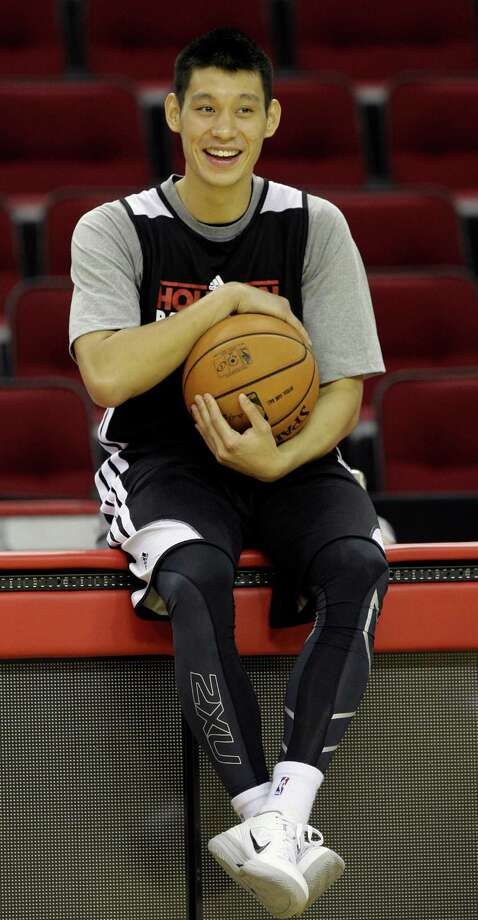 His history includes cuts by the Warriors and Rockets, but after becoming a sensation with the Knicks last season, Jeremy Lin is now sitting pretty in Houston. Photo: Melissa Phillip, Staff / © 2012 Houston Chronicle