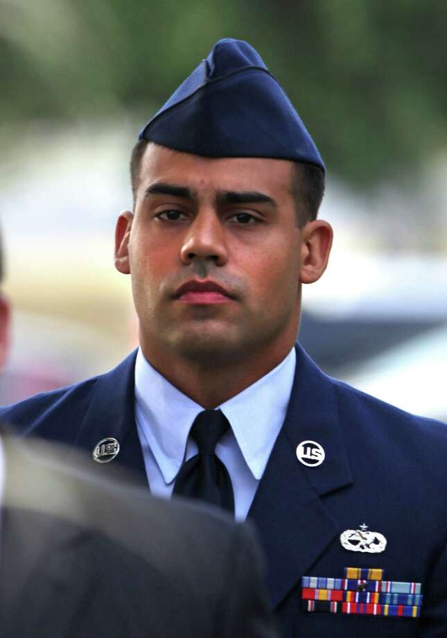 As part of Staff Sgt. Craig LeBlanc's plea, he insisted that when he had sex with a woman two days after she graduated from basic training,it was consensual — and their relationship continued. Photo: Bob Owen / San Antonio Express-News