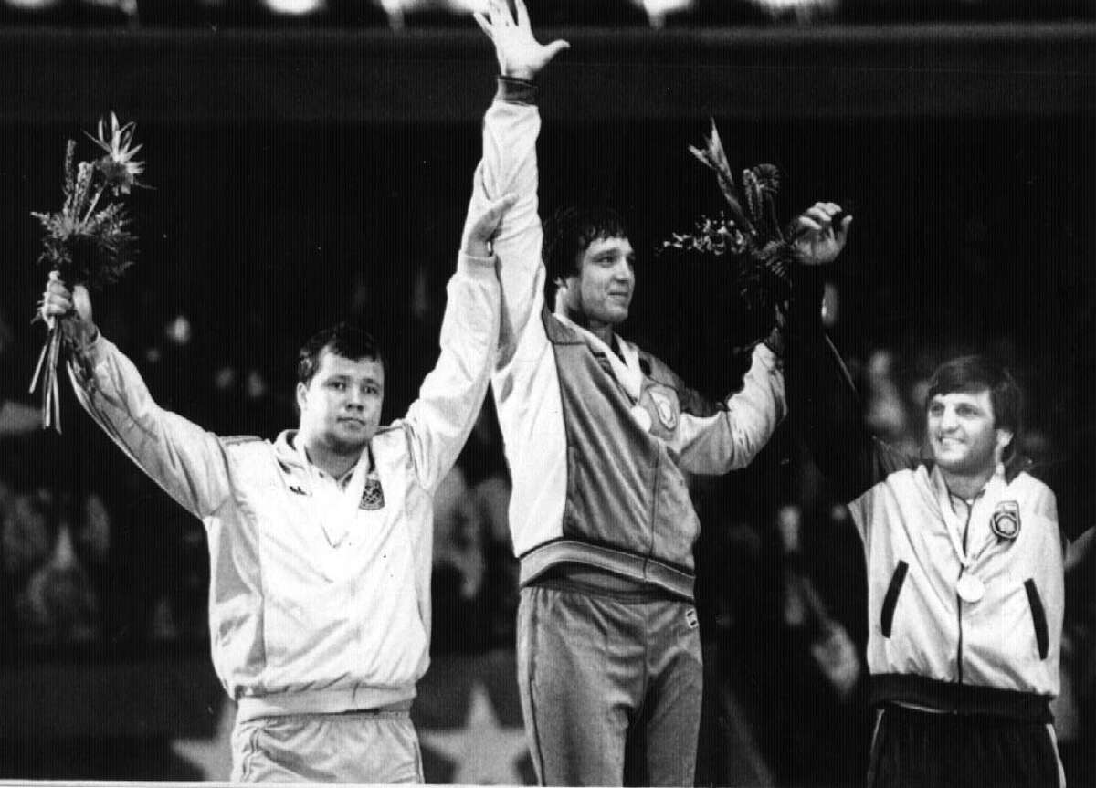 Jeff Blatnick of Niskayuna won a gold medal in Greco-Roman wrestling at the Los Angeles Olympic Games in 1984 (Associated Press archive)