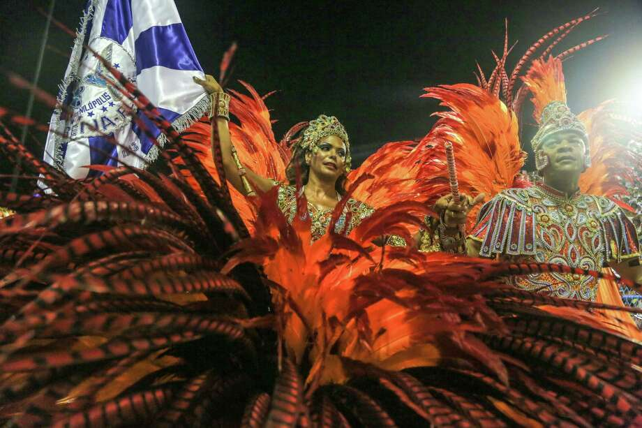 Members of Beija Flor Samba School perform during Carnival 2013 at Sambodrome Sapucai on February 12, 2013 in Rio de Janeiro, Brazil. Photo: Getty