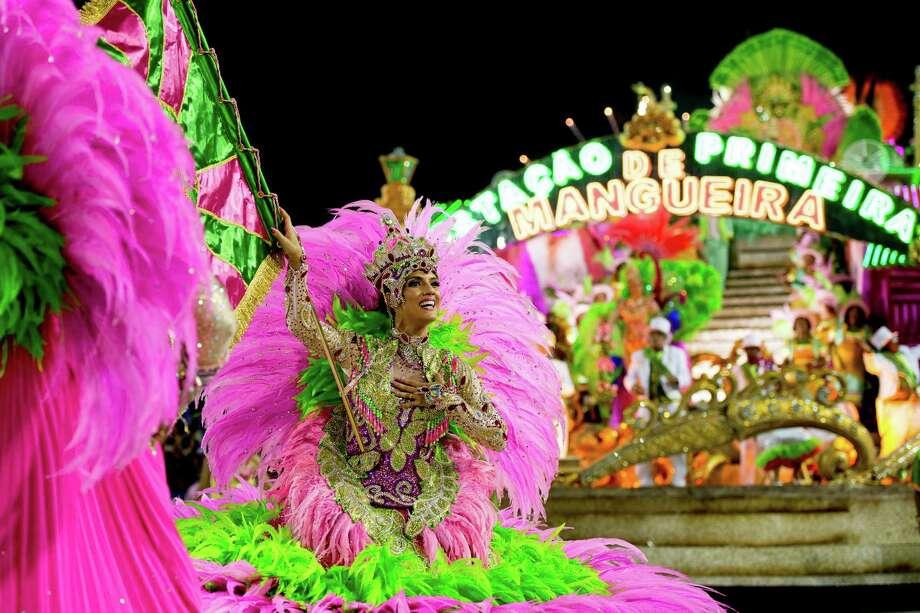 Floats of Mangueira Samba School parade themed on Cuiaba, capital city of Mato Grosso at Sambodrome Sapucai on February 11, 2013 in Rio de Janeiro, Brazil. Photo: Getty