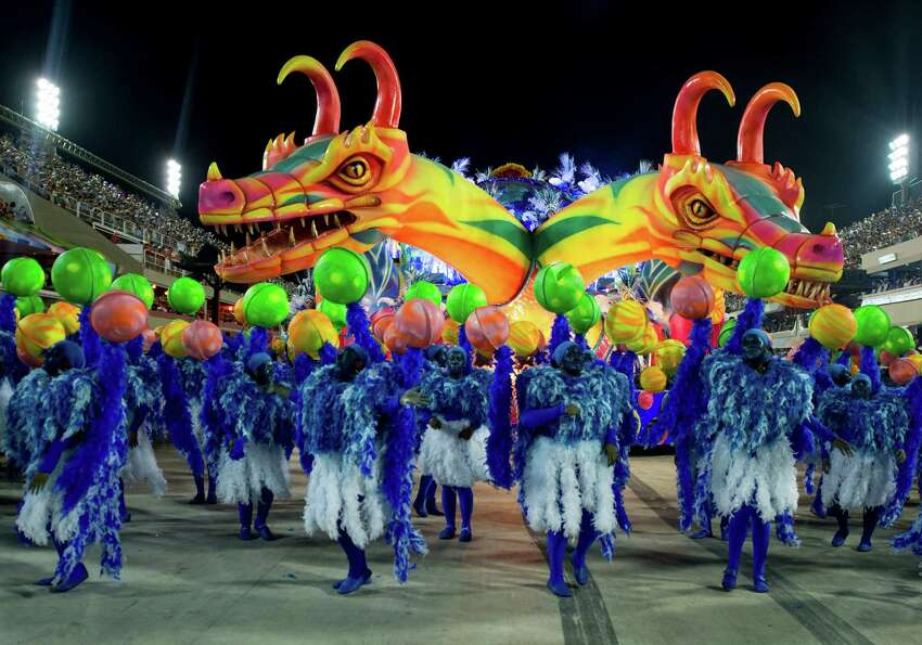 A float of Unidos de Vila Isabel during Carnival 2013 at Sambodrome Marques da Sapucai on February 1