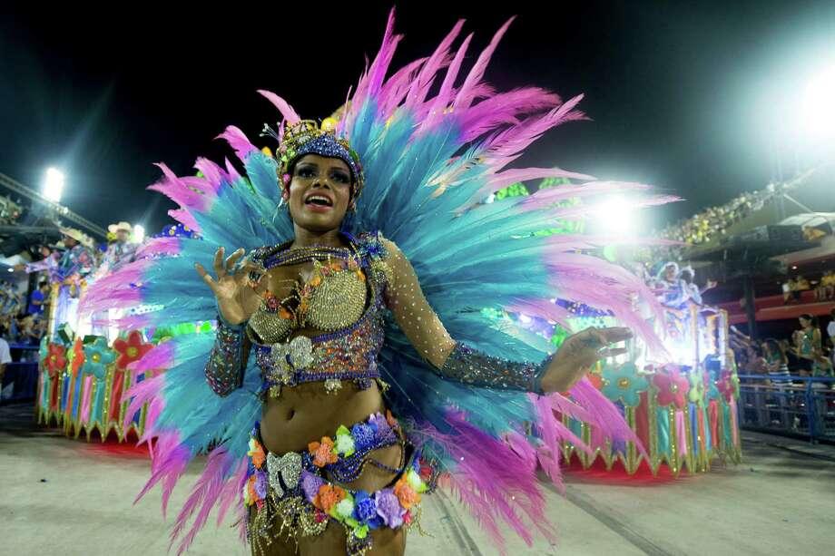 Dancers of Unidos de Vila Isabel during Carnival 2013 at Sambodrome Marques da Sapucai on February 12, 2013 in Rio de Janeiro, Brazil. Photo: Getty