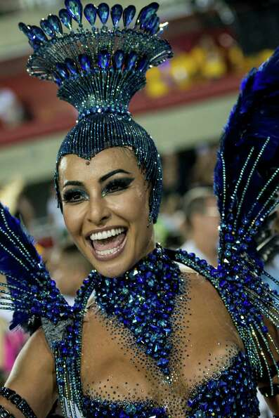 Model Sabrina Sato of Unidos de Vila Isabel during Carnival 2013 at Sambodrome Marques da Sapucai on