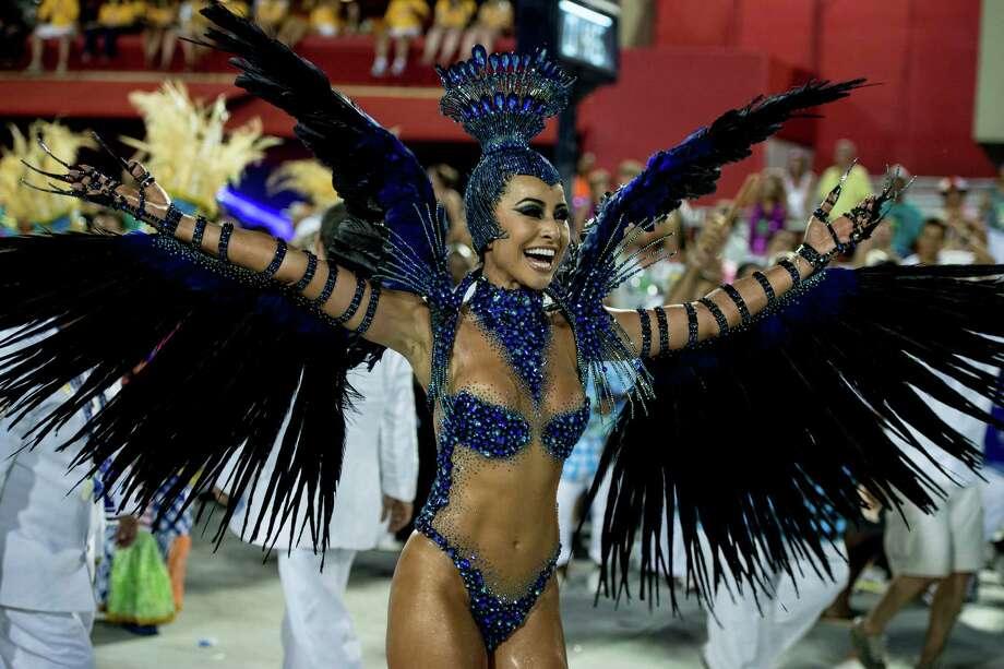 Model Sabrina Sato of Unidos de Vila Isabel during Carnival 2013 at Sambodrome Marques da Sapucai on February 12, 2013 in Rio de Janeiro, Brazil. Photo: Getty