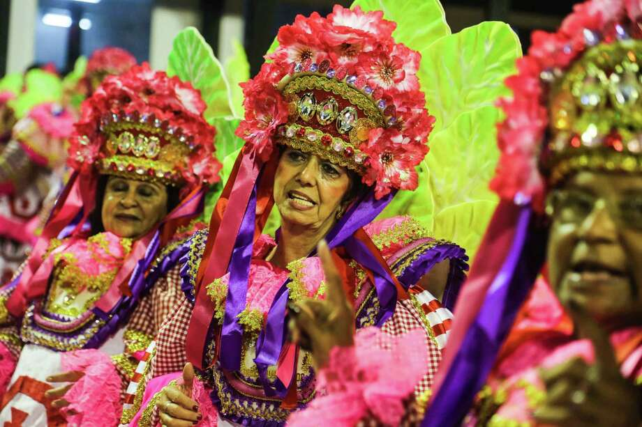 Dancers of Vila Isabel School perform during the 2013 Brazilian Carnival at Sapuca Smbodrome on February 12, 2013 in Rio de Janeiro, Brazil.  Photo: Getty
