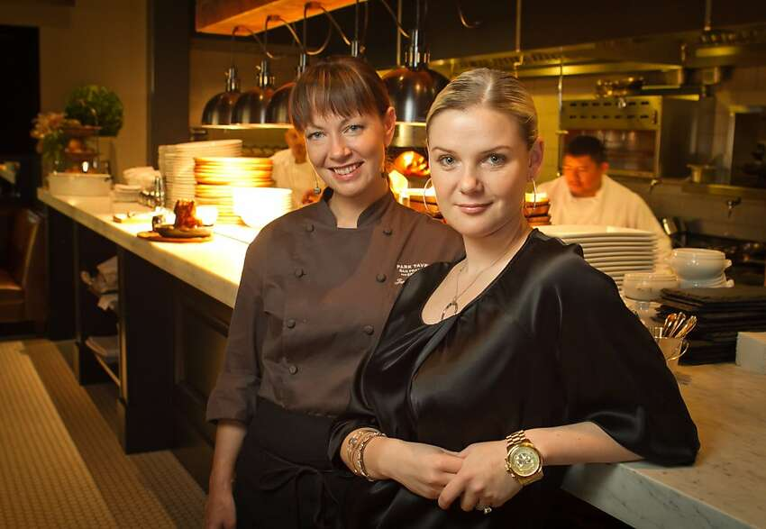 Chef Jennifer Puccio and Anna Weinberg at Park Tavern Restaurant in San Francisco, Calif., on Sunday, October 23, 2011.