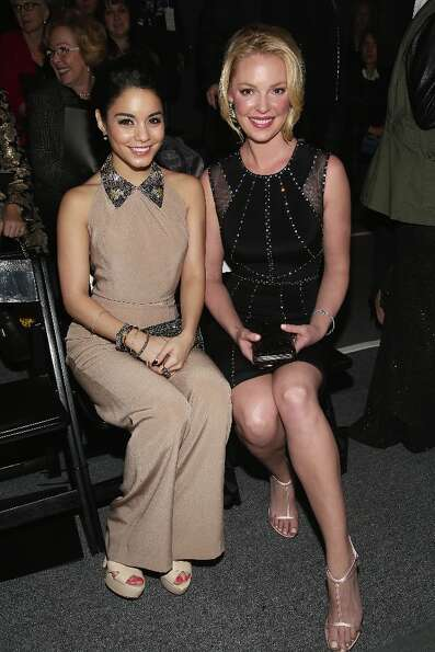 NEW YORK, NY - FEBRUARY 12:  Actress Vanessa Hudgens and actress Katherine Heigl attend the Jenny Pa