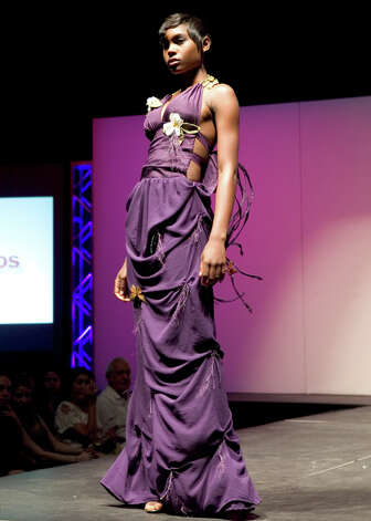 A design by Mandi Gallegos at Imagine 2010 IADT Runway Fashion Event at Laurie Auditorium. Photo by Jamie Couch Karutz. Photo: Jamie Couch Karutz, SPECIAL TO THE EXPRESS-NEWS / Copyright: Jamie Karutz All Rights Reserved