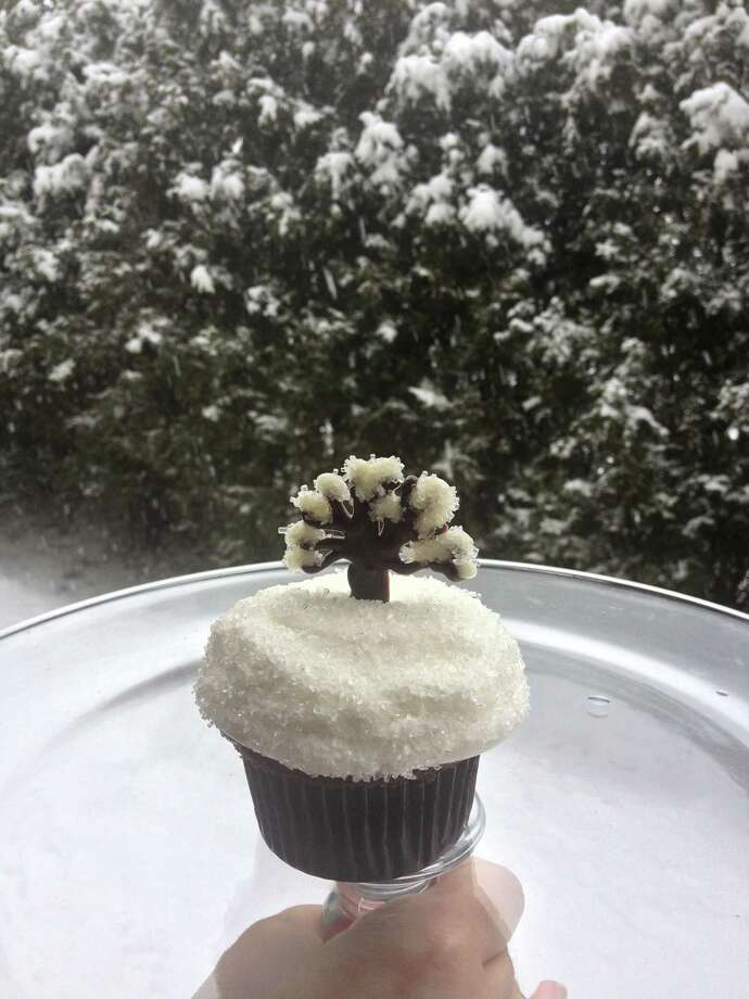 Forever Sweet Bakery created blizzard-themed cupcakes during the storm this weekend. Feb. 11, 2013, New Canaan, Conn. Photo: Contributed