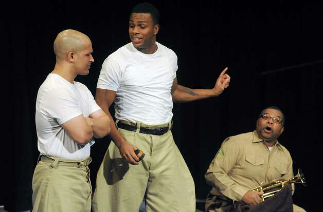 "Actors rehearse for ""Camp Logan,"" a World War I military drama based on the 1917 Houston Riot between black soldiers and local police, at SCCC on Wednesday Feb. 6, 2013 in Schenectady, N.Y. .(Michael P. Farrell/Times Union) Photo: Michael P. Farrell"