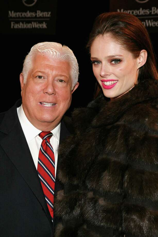 NEW YORK, NY - FEBRUARY 12:  Designer Dennis Basso and model Coco Rocha backstage at the Dennis Basso Fall 2013 fashion show during Mercedes-Benz Fashion Week at The Stage at Lincoln Center on February 12, 2013 in New York City.  (Photo by Andy Kropa/Getty Images for Mercedes-Benz Fashion Week) Photo: Andy Kropa, Stringer / 2013 Getty Images