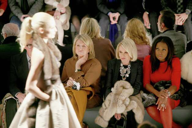 NEW YORK, NY - FEBRUARY 12:  (L-R)  Martha Stewart, Joan Rivers and Star Jones attend the Dennis Basso Fall 2013 fashion show during Mercedes-Benz Fashion Week at The Stage at Lincoln Center on February 12, 2013 in New York City.  (Photo by Andy Kropa/Getty Images for Mercedes-Benz Fashion Week) Photo: Andy Kropa, Stringer / 2013 Getty Images