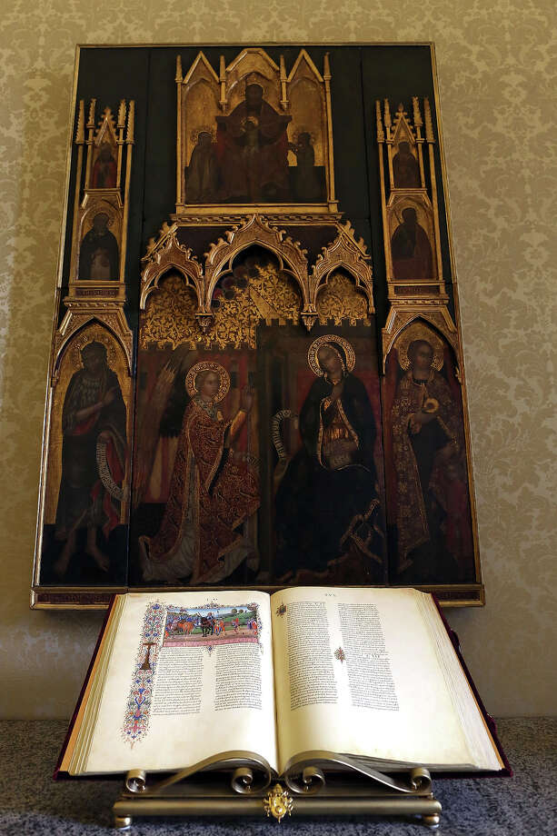 An old book and an old icon are seen in the hallway to the Pope Benedict XVI private studio at the Apostolic Palace on October 29,  2012 in Vatican City, Vatican. Pope Sixtus V (1585- 1590) built the Apostolic Palace where the present pope lives and where every Sunday at noon he stands at the window, and blesses the crowd that gathers in the magnificent St. Peter's square. Photo: Franco Origlia, Getty Images / 2013 Franco Origlia