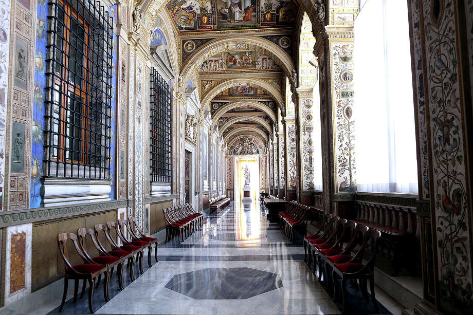 A view of the Seconda Loggia of the Apostolic Palace on October 25,  2012 in Vatican City, Vatican. Pope Sixtus V (1585- 1590) built the Apostolic Palace where the present pope lives and where every Sunday at noon he stands at the window, and blesses the crowd that gathers in the magnificent St. Peter's square. Photo: Franco Origlia, Getty Images / 2013 Franco Origlia
