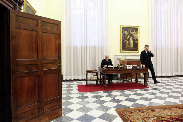 A view of an hallway of the Vatican Secretary of State at the Apostolic Palace on October 29, 2012 in Vatican City, Vatican. Pope Sixtus V (1585- 1590) built the Apostolic Palace where the present pope lives and where every Sunday at noon he stands at the window, and blesses the crowd that gathers in the magnificent St. Peter's square. Photo: Franco Origlia, Getty Images / 2013 Franco Origlia