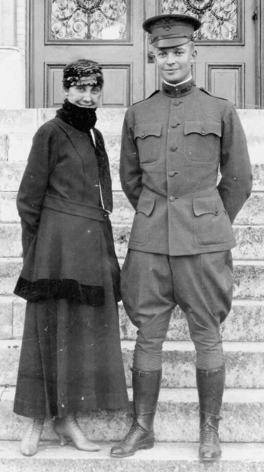 A second lieutenant fresh out of West Point, Dwight Eisenhower was stationed in 1915 at Fort Sam Houston, where he met Mamie Dowd and courted her with Mexican dinners on San Antonio's West side and dancing on the roof of the St. Anthony Hotel. Photo: Courtesy Arcadia Publishing