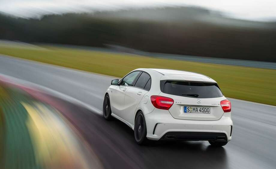Mercedes introduced its newest hatchback, the A45 AMG. The car has a 2.0-litre turbocharged engine under its hood and gets nearly 41 miles to the gallon. But the car isn't expected to come to the U.S. market in 2014. Photo: Mercedes-Benz