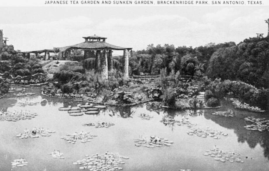 A registered Texas historical landmark, the Sunken Garden was transformed in the early 20th century from an old cement company quarry. Photo: Courtesy Arcadia Publishing