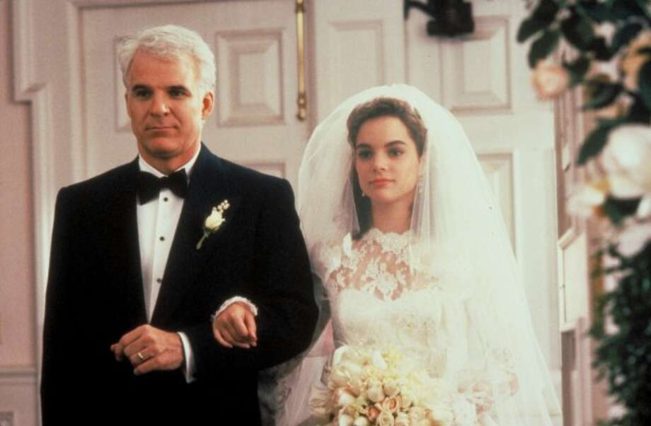Steve Martin walks his daughter down the aisle in Father of the Bride (1991).