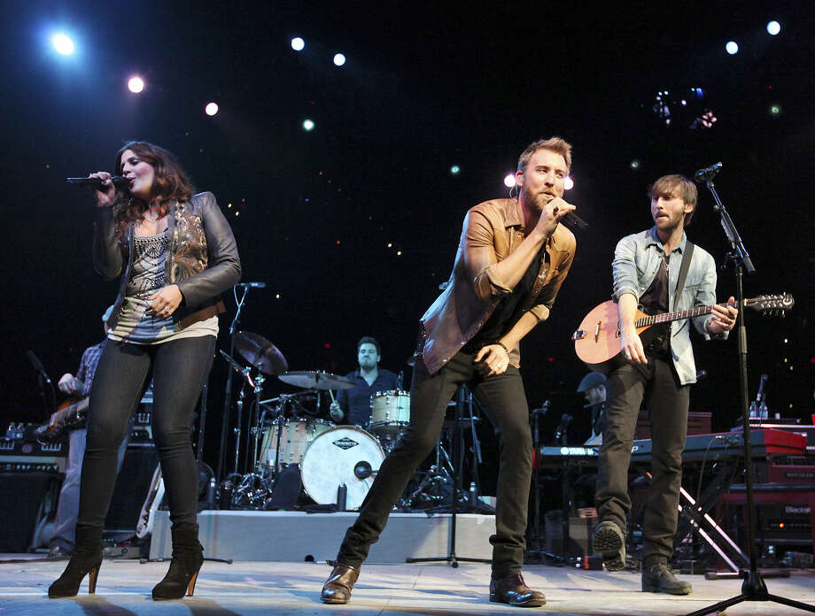 Lady Antebellum will play the AT&T Center on Saturday. Hillary Scott (left) has announced she's pregnant. Plans are to use the baby's heartbeat in the band's upcoming album. Photo: Express-News File Photo