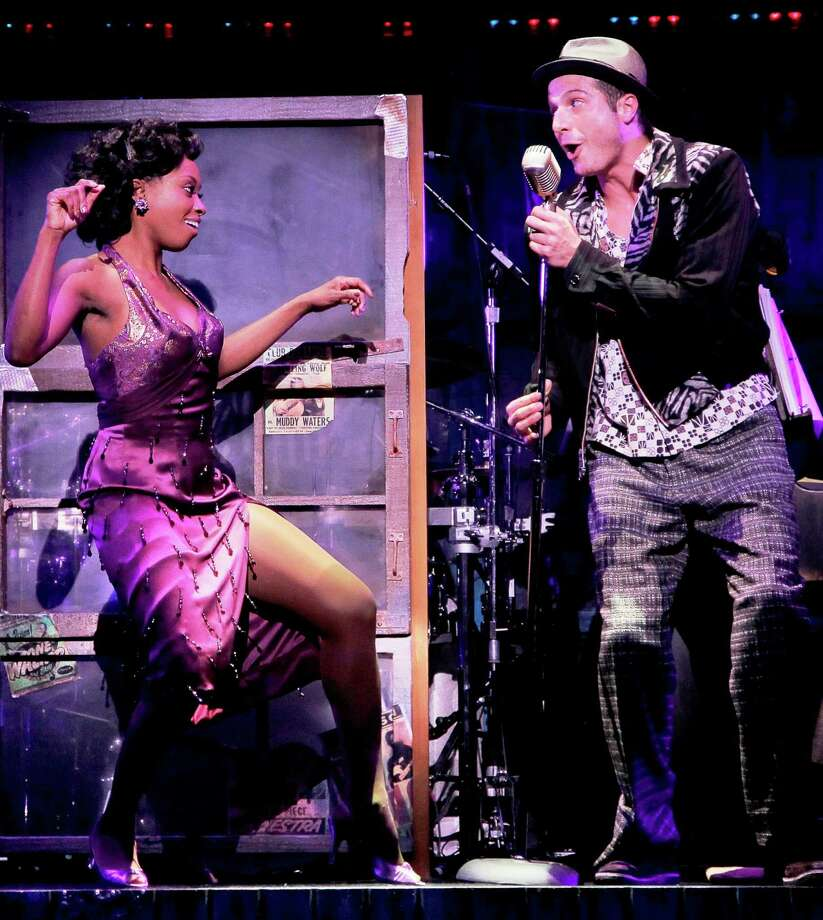 """Felicia Boswell is Felicia and Bryan Fenkart is Huey in the touring version of """"Memphis."""" Photo: Courtesy Paul Kolnik"""