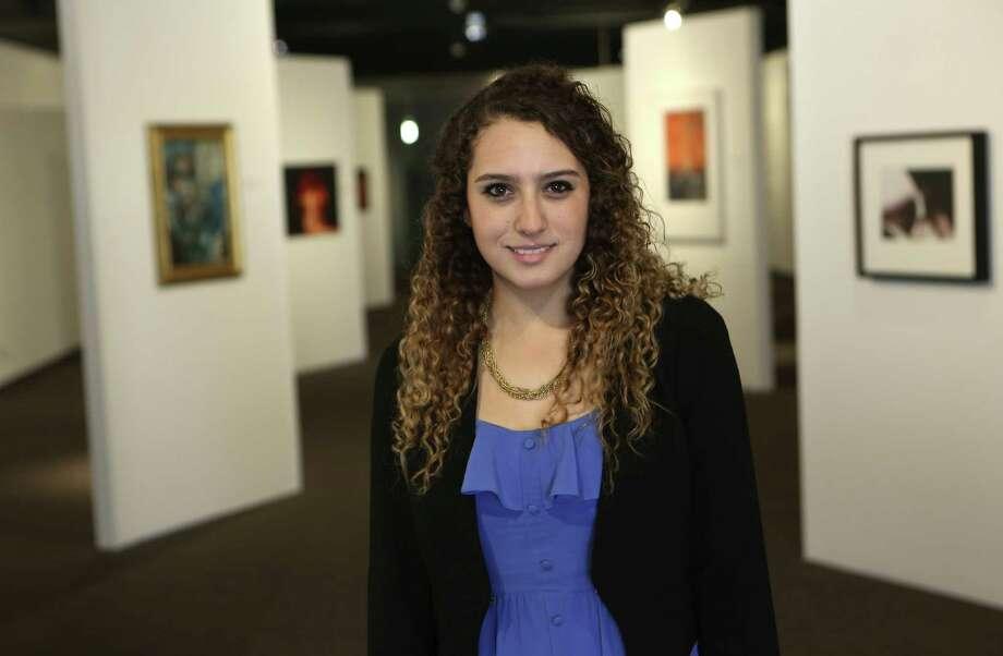 "Clarissa Gutierrez Carrasco is co-curator of the Institute of Texan Cultures' ""Arte Chihuahua,"" on display through May 5. Photo: Helen L. Montoya / Conexión"