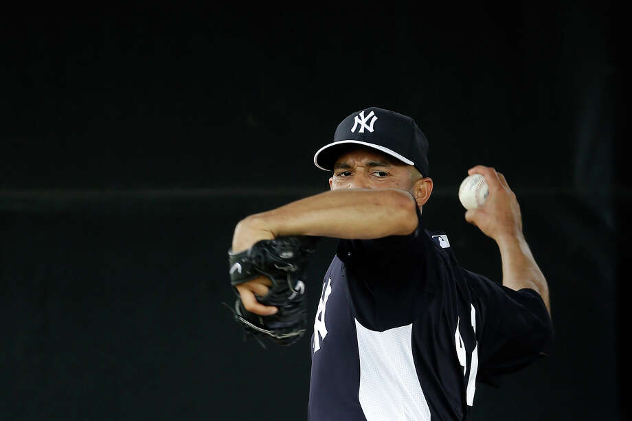 New York Yankees' Mariano Rivera throws in the bullpen during a workout at baseball spring training, Wednesday, Feb. 13, 2013, in Tampa, Fla. (AP Photo/Matt Slocum) Photo: Matt Slocum, ASSOCIATED PRESS / AP2013