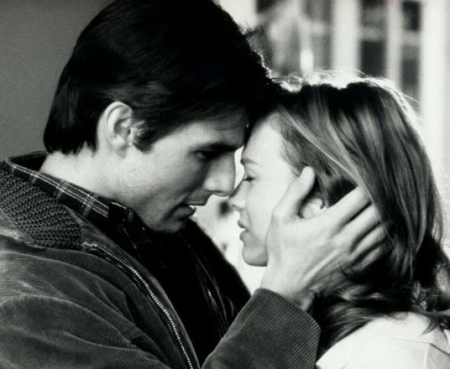 Jerry Maguire (Tom Cruise) and Dorothy Boyd (Renée Zellweger) in Jerry Maguire: He's a dreamboat sports agent going through a midlife crisis. She's refreshingly ordinary and in love with him. The moments between them in this 1996 movie are tender and sweet.