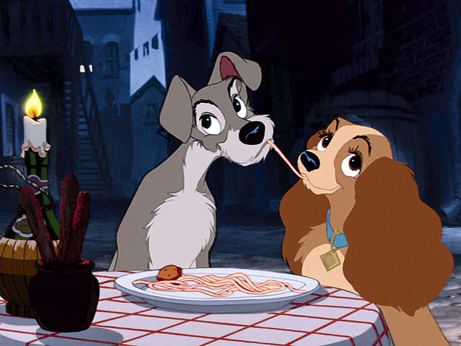 Lady and the Tramp: A couple who shares a plate of spaghetti together stays together.