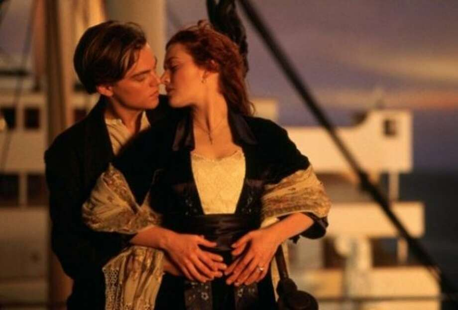 Rose DeWitt Bukater (Kate Winslet) and Jack Dawson (Leonardo DiCaprio) in Titanic: The chemistry between the two lovers in this glorious historical 1997 epic is real (especially to 13 year old girls).