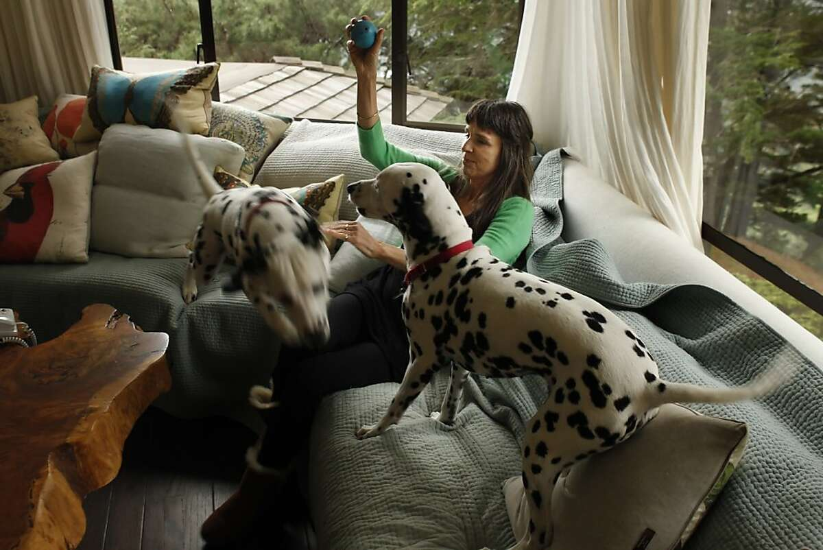 Deborah Koons Garcia at her Mill Valley, Calif., home with her dogs Nico and Honeybee on Thursday, November 15, 2012. She is the widow of Jerry Garcia and is an environmental documentary film maker and environmental activist with a deep knowledge on soil/ organic agriculture.