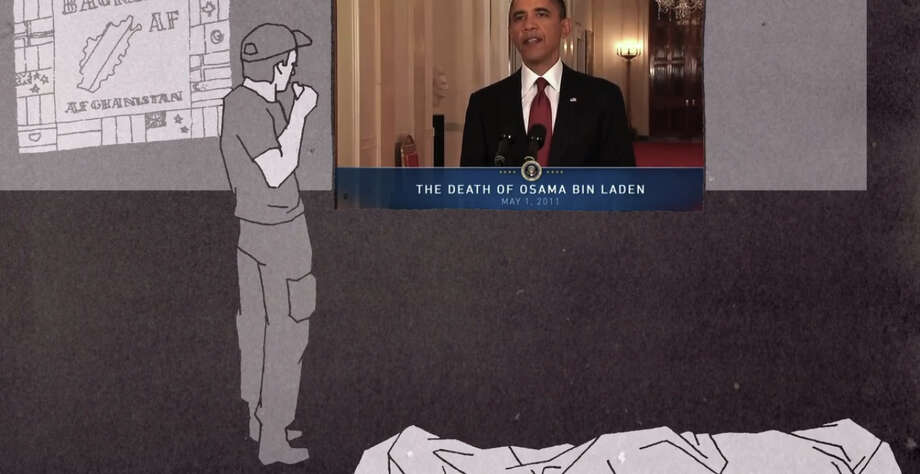 The Shooter watched President Obama announcing the raid on TV while he was looking at the body of Osama bin Laden. Photo: CIR