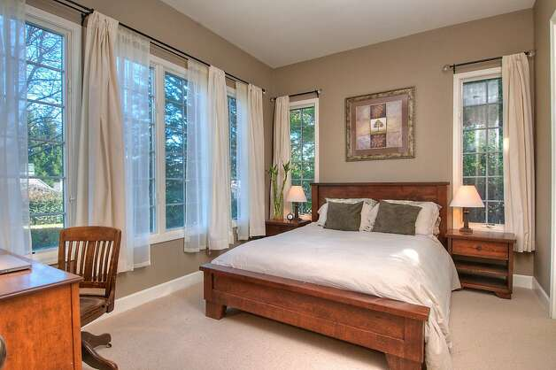 There are five bedrooms in the Tiburon home. Photo: Matt McCourtney