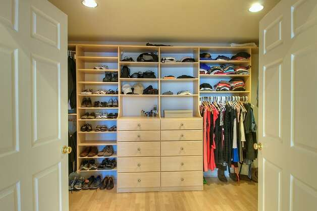 A walk-in closet is featured in the master suite. Photo: Matt McCourtney