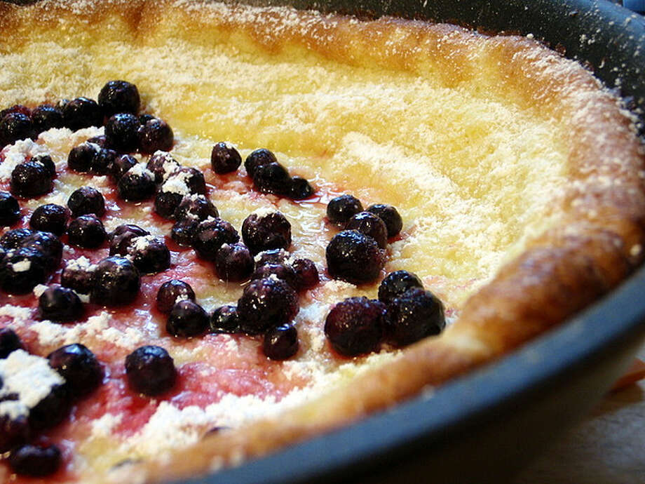 Dutch babies are puffy, eggy German pancakes believed to have been introduced in America by long-closed Manca's Cafe in downtown Seattle. Photo courtesy joyosity via Creative Commons flickr.