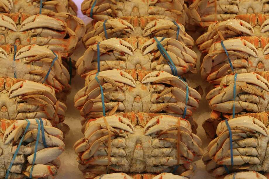 Dungeness crab: San Francisco thinks it has bragging rights to Dungeness, but this meaty West Coast crustacean was named after the port town of Dungeness, just north of Sequim. Photo: Mike Urban, Seattle Post-Intelligencer / Seattle Post-Intelligencer