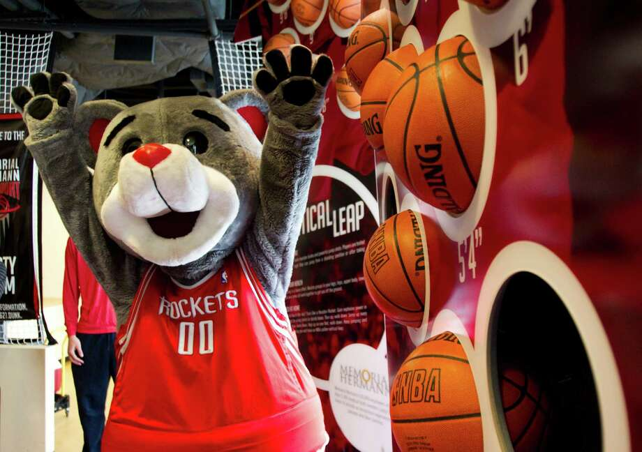 Clutch, the Rockets mascot, will be on hand to meet and greet fans during a number of NBA All-Star Weekends events. Photo: Brett Coomer, Houston Chronicle / © 2013 Houston Chronicle