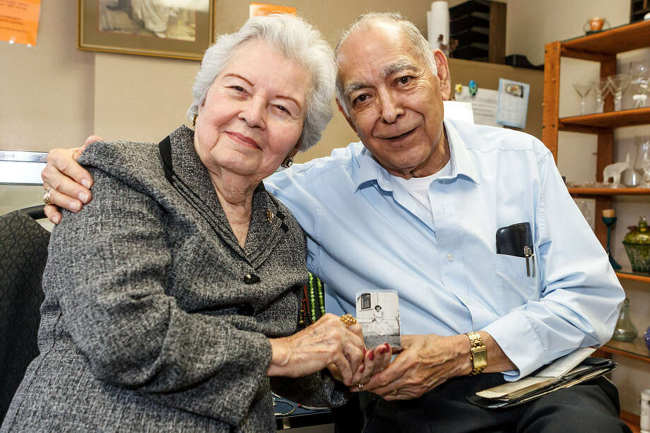 Richard Duran knew he wanted to marry his wife, Lupe, the first time he saw her photo 62 years ago. He still carries the photo in his wallet. Photo: Marvin Pfeiffer / Bulverde News