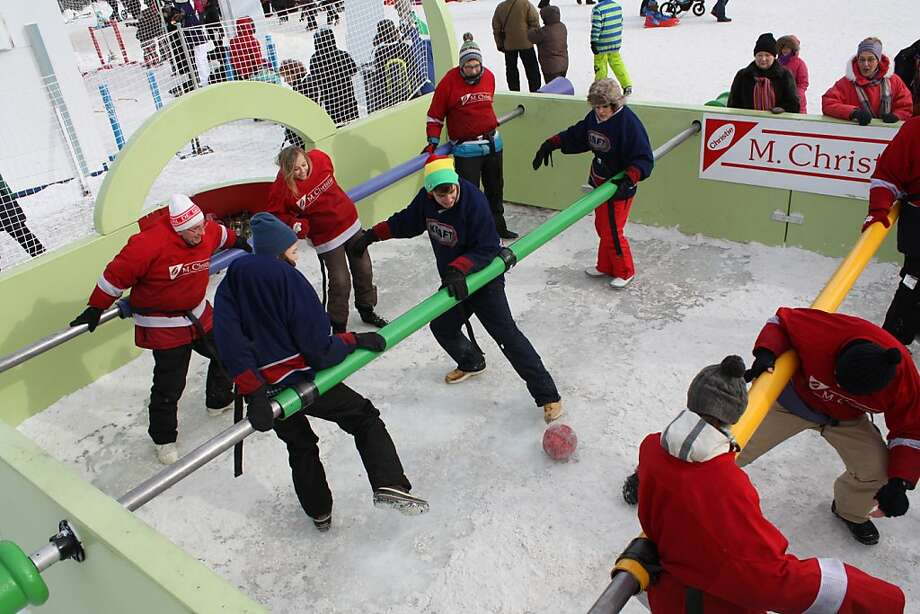 Foosball is big in Canada, especially during carnival in Quebec. Photo: Frederic Berg, AFP/Getty Images