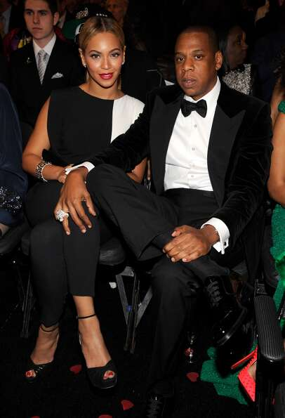 Beyonce and Jay-Z attend the 55th Annual GRAMMY Awards at STAPLES Center on February 10, 2013 in Los