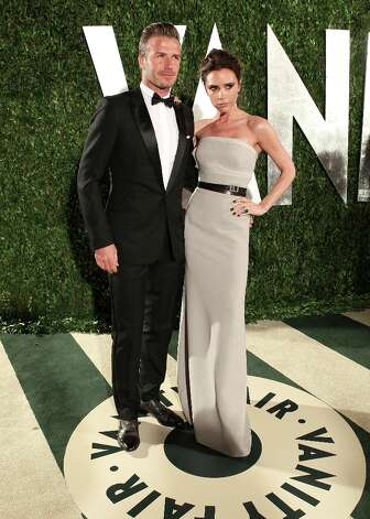 David and Victoria Beckham attends the 2012 Vanity Fair Oscar Party Hosted By Graydon Carter at Sunset Tower on February 26, 2012 in West Hollywood, California. Photo: Christopher Polk/VF12, Getty Images For Vanity Fair / 2012 Christopher Polk/VF12