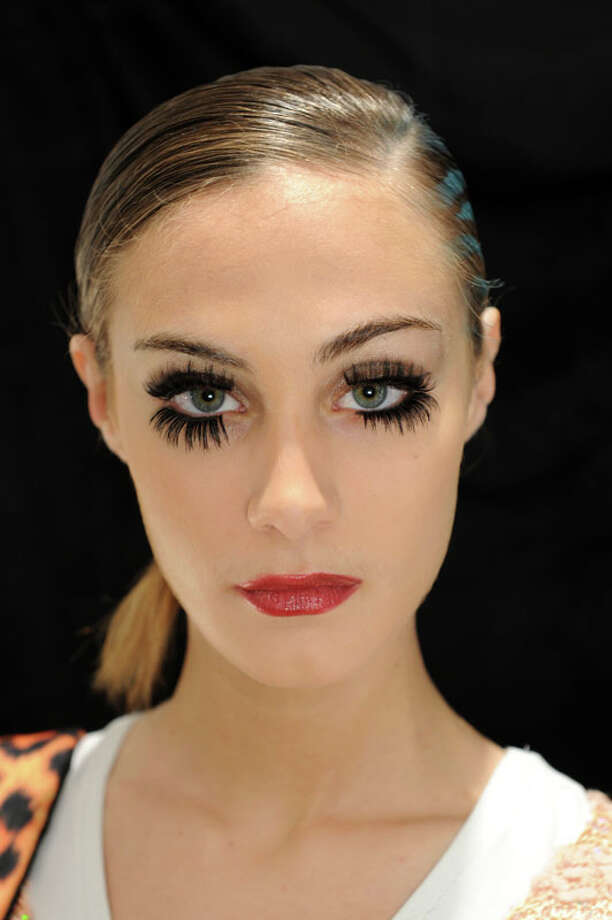 Eyelashes! CZAR by Cesar Galindo Fall 2013.  Photo: Craig Barritt, AP/Getty / 2013 Getty Images